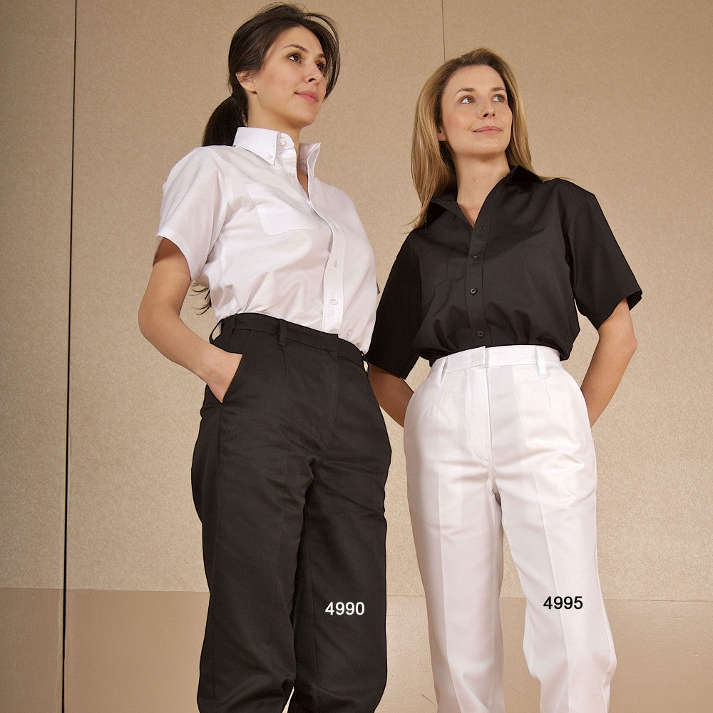 Women's Work Pants - Concealed Dome Closure #4990