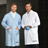 Men's Lab Coat with Snap Closures - Elastic Cuffs - Three Outside Pockets #610EW