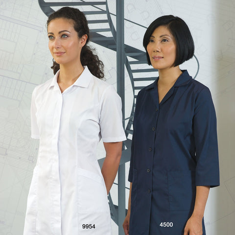 Smocks with Snap Closures - 3/4 Length Sleeves #4525