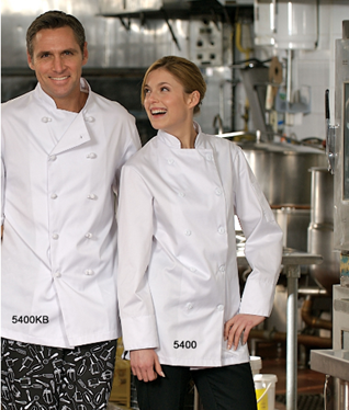 100% Cotton Chef Coat with Knot Buttons #5400KB
