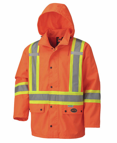 Hi Viz 100% Waterproof Jacket - Orange #5575A