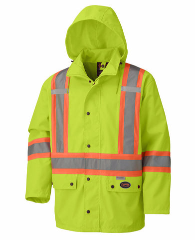 Hi Viz 100% Waterproof Jacket - Yellow #5585A