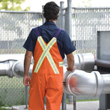 Orange Bib Overalls with Reflective Tape #C56.8A