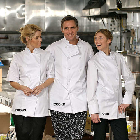 Econo Chef Coat with Plastic Buttons - Short Sleeves #5300SS