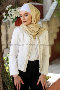 Elegant Beaded Outerwear Jacket