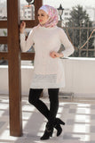 Long Elegant Blouse - knitted wool - E-Modesta
