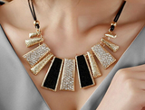 Rectangle Pendant Statement Necklace - E-Modesta
