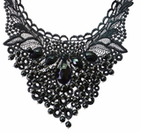 Black Lace Elegant Bead Necklace