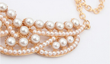 Pearls hollow collar necklace - E-Modesta
