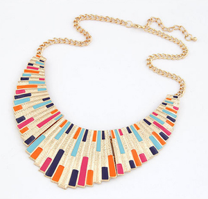 Geometrical large necklace