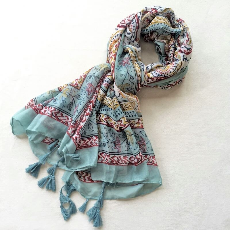 Hijab Scarf with Floral Print - E-Modesta