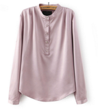 Formal blouse - satin cloth