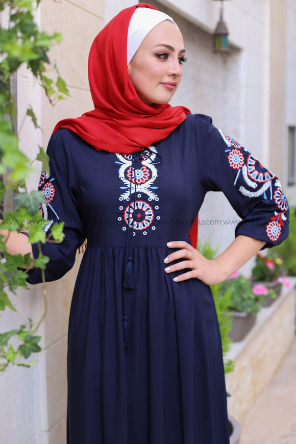 Casual Ethnic Embroidery Maxi Dress