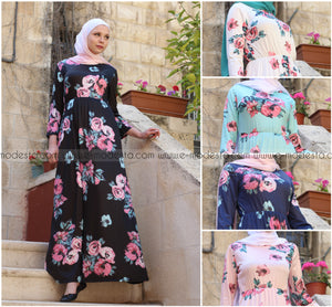 Casual Light Dress with Floral Pattern