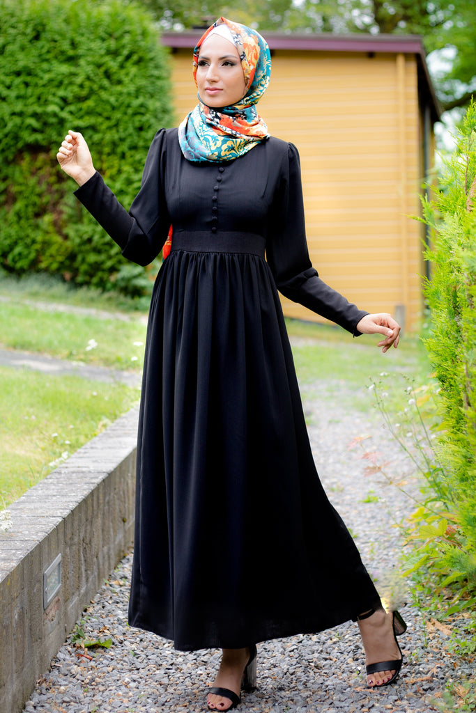 Simple Elegant Dress | Fully Lined | Black Color