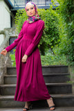 Simple Elegant Dress | Fully Lined | Violet Color