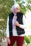 Long Luxury Faux Fox Vest
