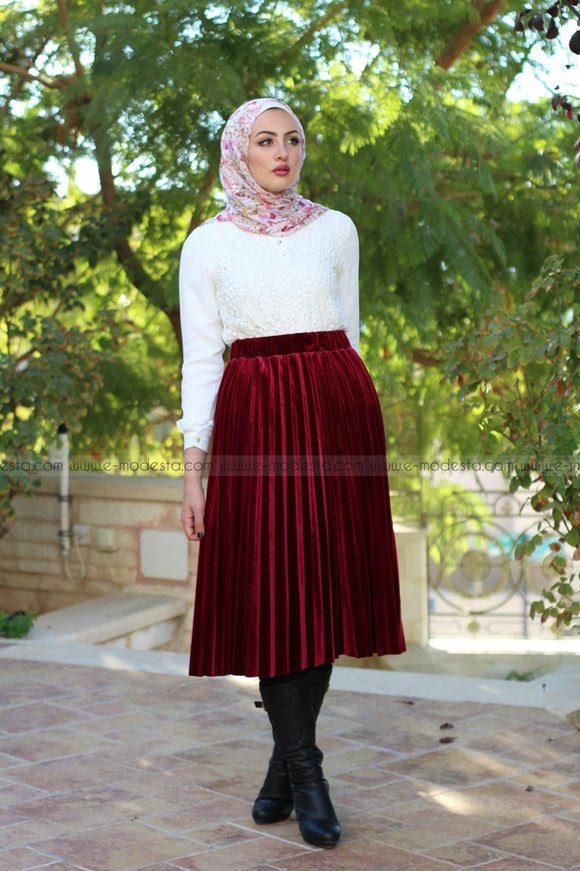 Velvet winter skirt
