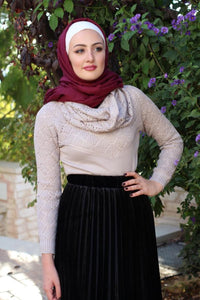 Wool Sweaters with Scarf - Multiple Colors