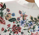 Sweet White Shirt with Multiple Colored Floral Print