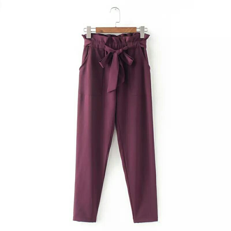 Sweet High Waist Pants with Bow Tie (6 colors)