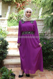 SALE Chiffon Embroidery Dress | PURPLE - E-Modesta