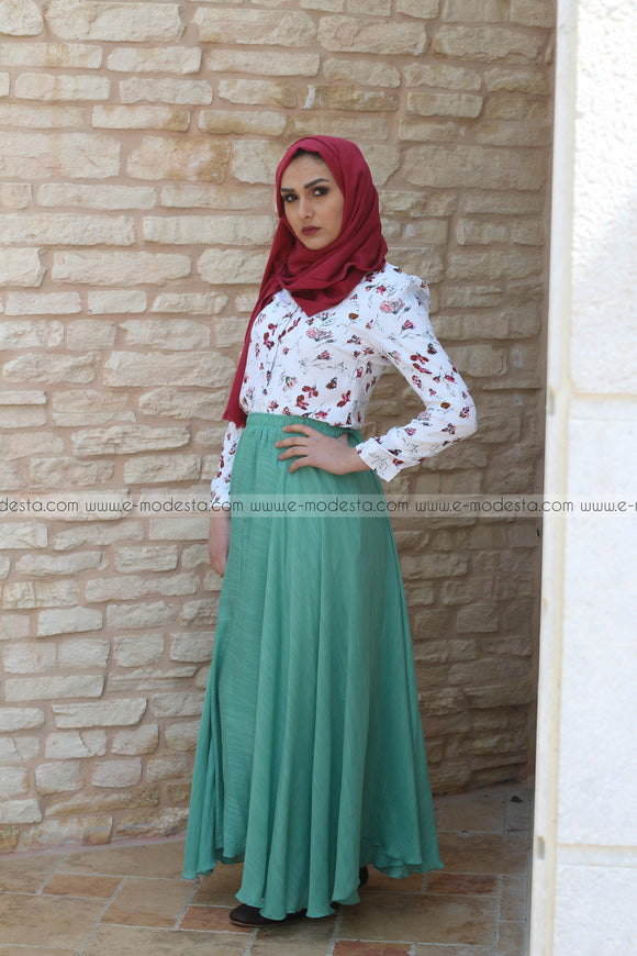 Cotton Linen Maxi Skirt