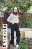 Wide-leg Black Pants - E-Modesta