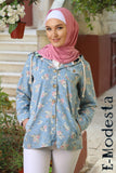 Floral jeans cute jacket with hood - E-Modesta