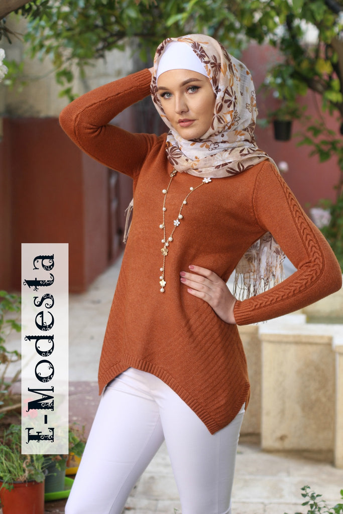 Wool knitted casual pullover - E-Modesta