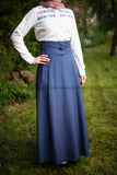SALE High Waist Skirt | with Removable Shoulder Belt | Color Blue