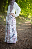 Maxi Floral Skirt | Pink & Purple | Lined from Inside