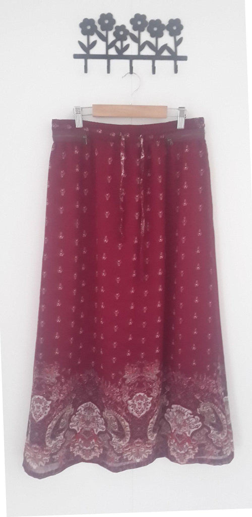 Elegant floor-length printed skirt - E-Modesta