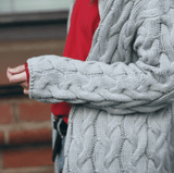 Autumn Winter Thick Wool Twisted Cozy Cardigan