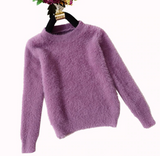 SALE | High Quality Soft Mohair O-neck Pullover