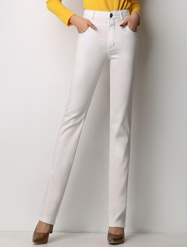High Waist Regular Pants - E-Modesta