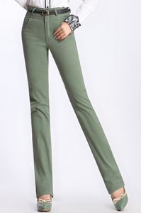 High Waist Regular Pants
