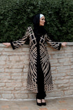 Patterned Black Abaya - E-Modesta