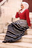 High quality elegant floor length skirt - White and black