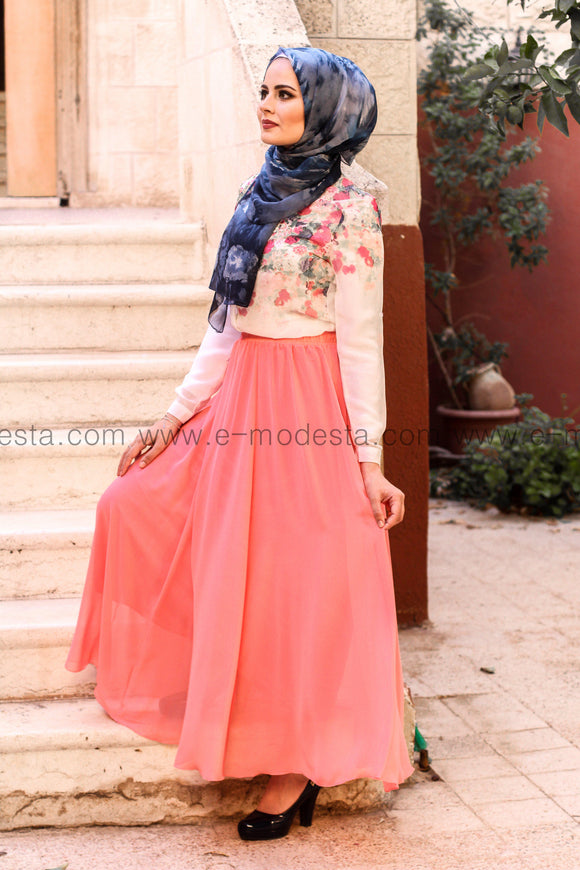 Elegant light floor length skirt - multiple colors