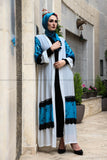 Elegant Blue and White Modern Abaya