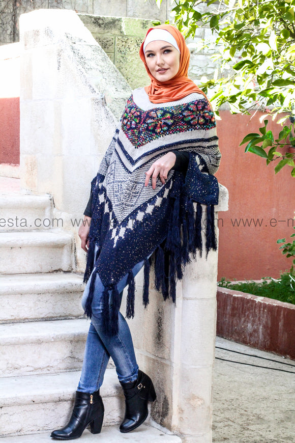 Batwing Sleeve Knitted Cape