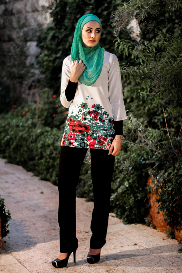 Flower Printed Tunic