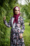 Print Floral Long Cardigan | Abaya | Black Color - E-Modesta