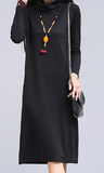 Cotton casual long tunic - turtle neck - E-Modesta