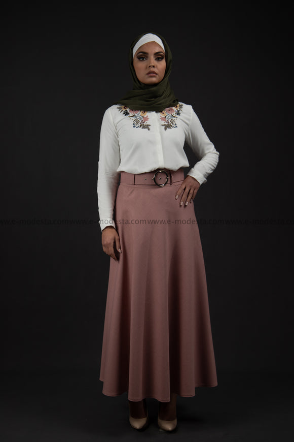 Maxi Summer Skirt | Pink Color | with Belt SALE