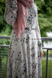 Elegant Maxi Summer Dress | Pink Dots Pattern | Fully Lined from Inside - E-Modesta