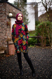 Winter Tunic | Multicolored | Soft Fur Inside | E-Modesta