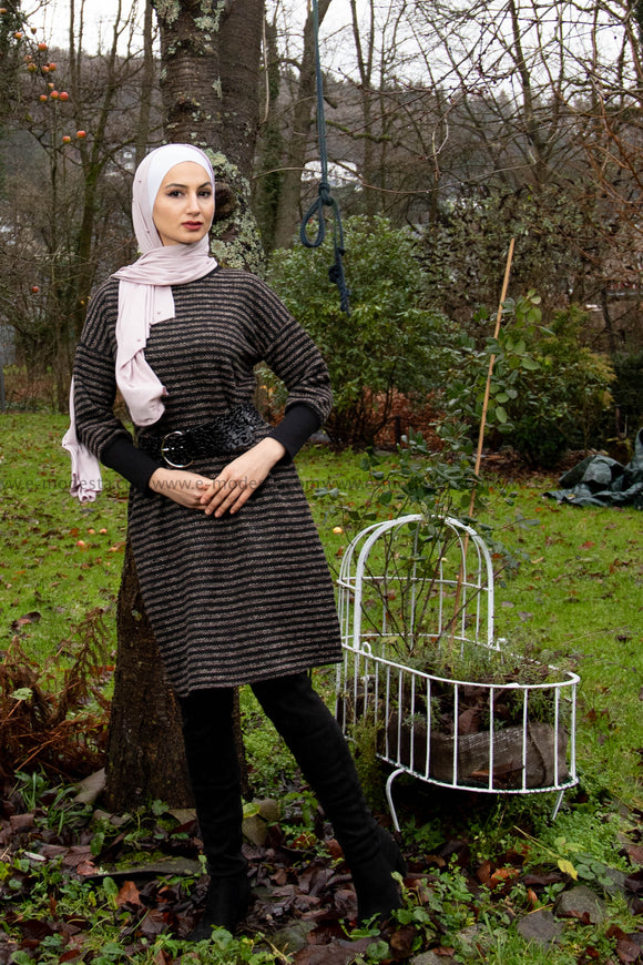 Women Dress |  Winter and Autumn Dress | Black and Grey | E-Modesta