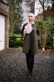 wool blouse | Olive Green Color|Winter Blouse|hijab Fashion E-Modesta